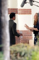 Mandy Moore On the set of