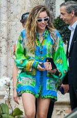 Miley Cyrus Outside the versace mansion in Miami