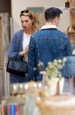 Molly McCook Goes shopping for home decor with a friend after lunch in Los Angeles