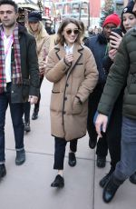 Natalia Dyer Steps out on Main Street during the 2019 Sundance Film Festival in Park City