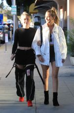 Natalia Panzanella and Ruby Carr head to a salon together