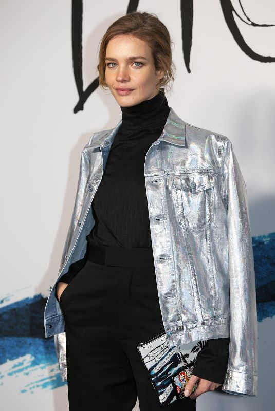Natalia Vodianova At Dior Homme Menswear Fall/Winter 2019-2020 show during Paris Fashion Week in France
