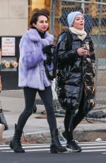 Rose McGowan and a female friend are spotted out in New York