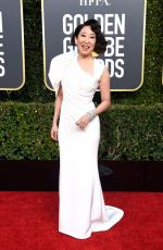Sandra Oh Attends the 76th Annual Golden Globe Awards in Beverly Hills