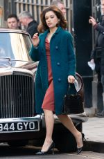 Sophie Cookson Filming for BBC One