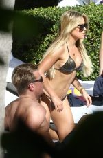 Sylvie Meis In bikini By the pool in Miami