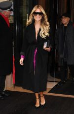 Sylvie Meis Leaving Plaza Athensee hotel in Paris
