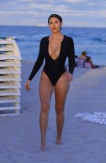 Tao Wickrath In swimsuit as she shows her curves in Miami