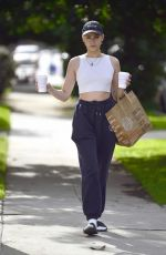 Willa Holland Spotted with coffee and a bag of groceries in Los Angeles