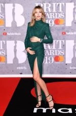 Abbey Clancy At The BRIT Awards 2019 held at The O2 Arena in London