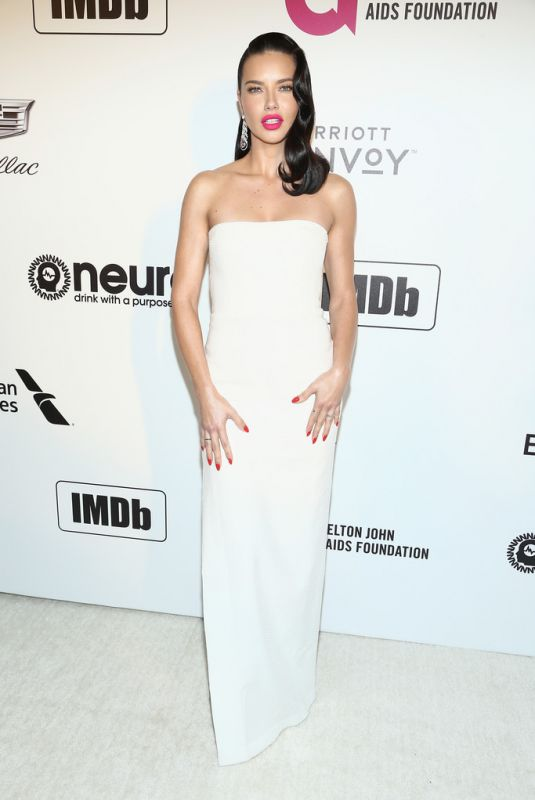 Adriana Lima At Elton John AIDS Foundation Academy Awards Viewing Party in LA