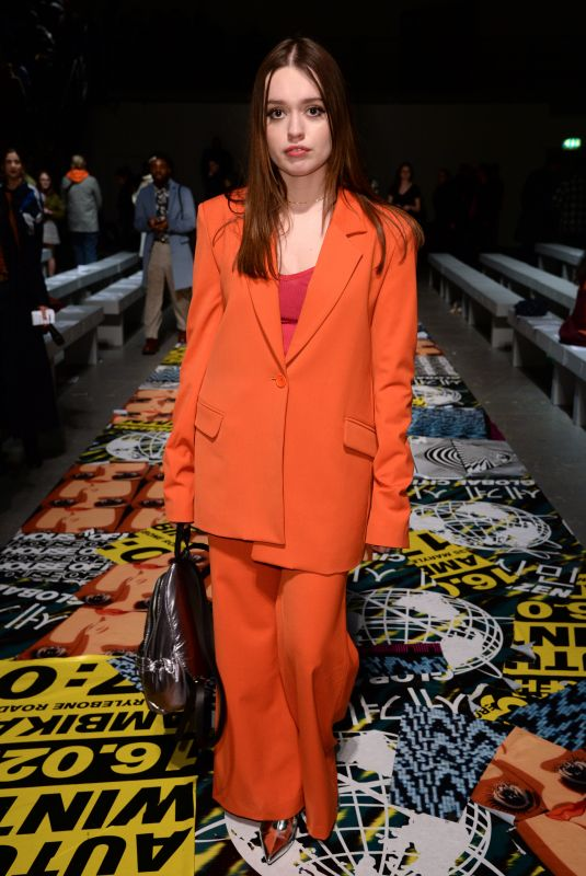Aimee Lou Wood At Front row at the House of Holland catwalk show during London Fashion Week