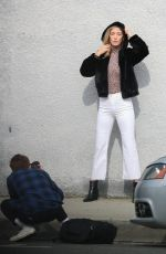 Alana Hadid Posing for a photoshoot in West Hollywood