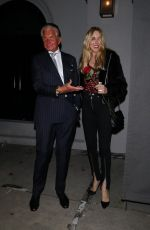 Alana Stewart and George Hamilton outside Craig