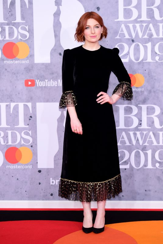 Alice Levine Attending the Brit Awards 2019 at the O2 Arena, London