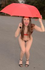 Alicia Arden Poses in very revealing bikini on rainy day in Hollywood
