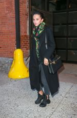 Alicia Vikander Leaving Highline Stages after doing a photoshoot for Louis Vuitton in New York City