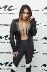 Ally Brooke Visits Music Choice in New York City