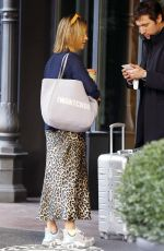 Amelia Windsor Leaving Milan after attending various fashion shows during Milan fashion week