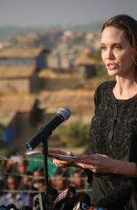 Angelina Jolie At UNHCR special envoy to Kutupalong Rohingya refugee camp in Bangladesh