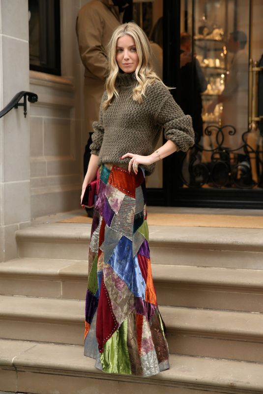 Annabelle Wallis Outside the Ralph Lauren show at New York Fashion Week