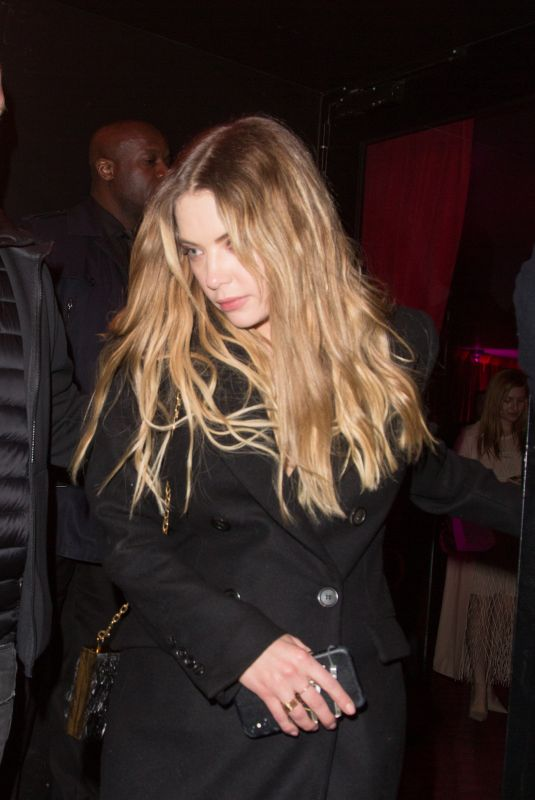 Ashley Benson Outside Dior dinner during PFW in Paris, France