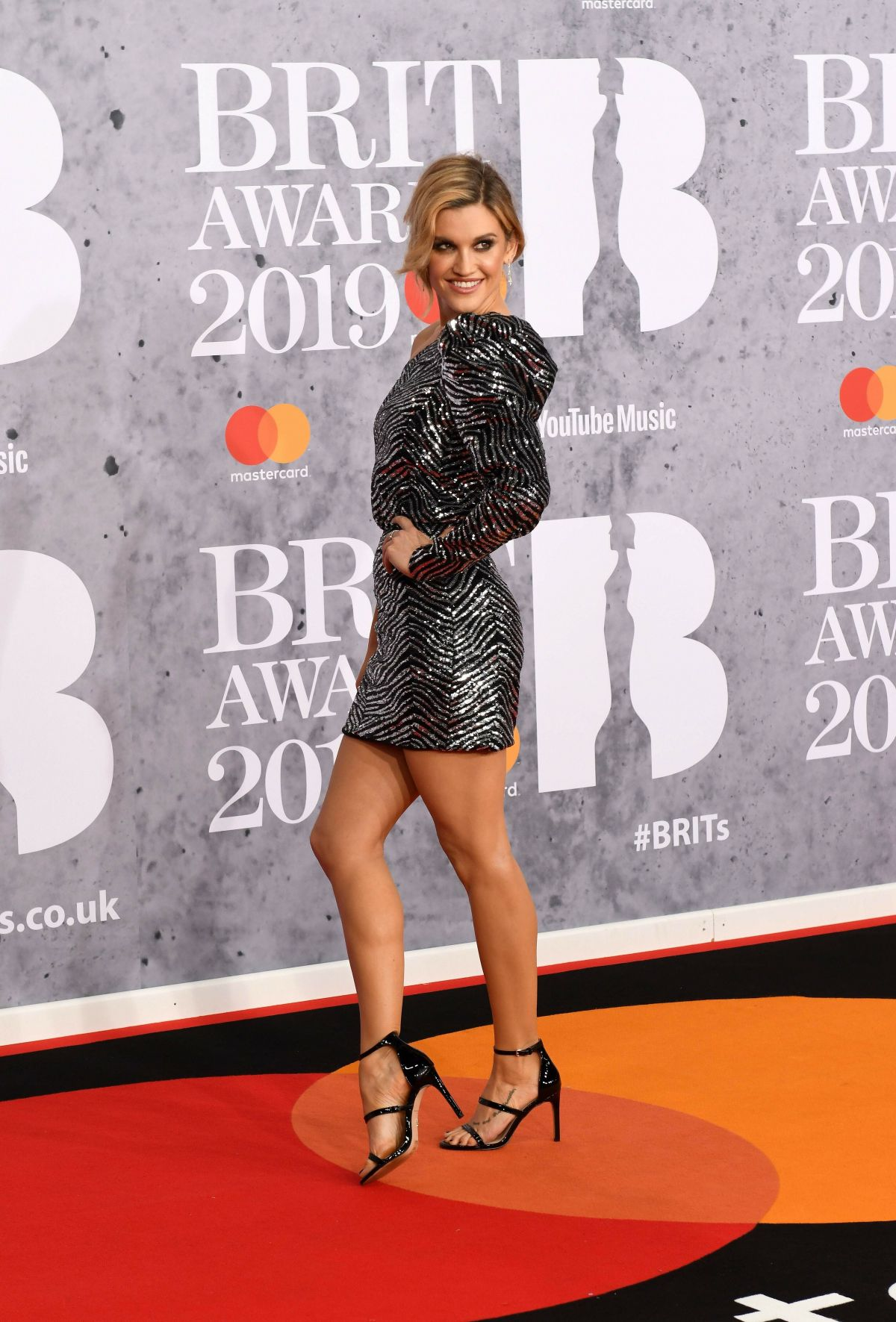 Ashley O Boyle Pro Makeup Design: Ashley Roberts At The BRIT Awards 2019 Held At The O2