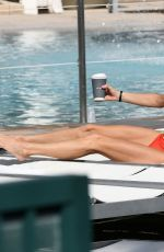 Bethenny Frankel Poolside in Miami