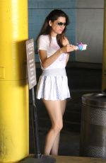 Blanca Blanco Picks up an ice cream in LA