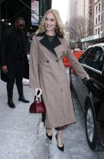 Caitlin FitzGerald Outside the BUILD Series in New York City