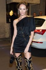Candice Swanepoel At 2019 Fall Versace dinner party in Milan