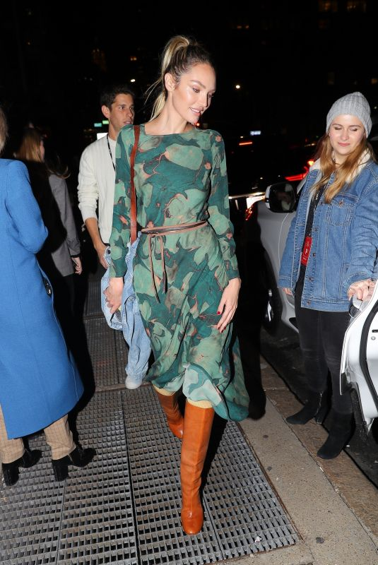 Candice Swanepoel Leaving the Prabal Gurung Fashion Show in NYC