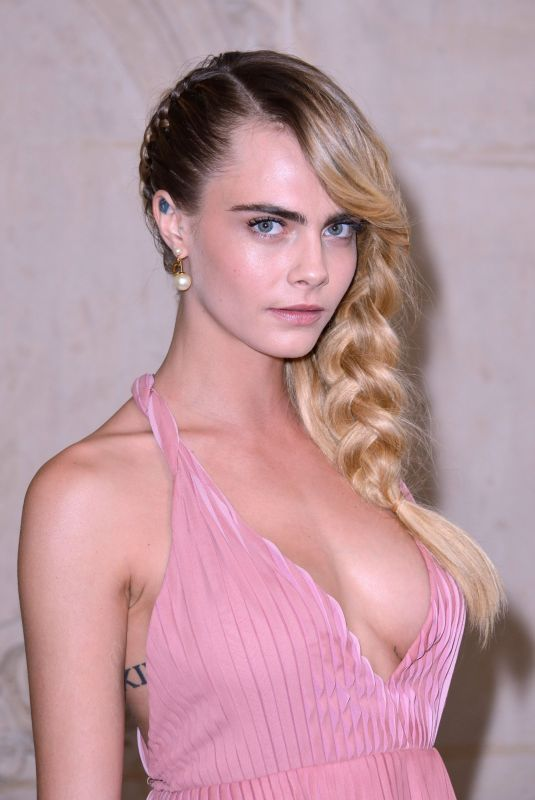Cara Delevingne At Christian Dior fashion show in Paris