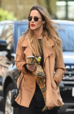 Caroline Flack Gets a parking ticket on her Range Rover while out and about running errands in London