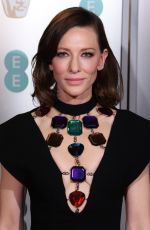 Cate Blanchett At EE British Academy Film Awards at Royal Albert Hall in London