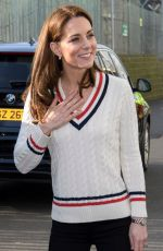 Catherine, the Duchess of Cambridge Visits the National Stadium in Belfast, Northern Ireland