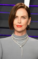 Charlize Theron At 2019 Vanity Fair Oscar Party hosted by Radhika Jones at Wallis Annenberg Center for the Performing Arts in Beverly Hills