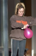 Charlotte Crosby Took delivery of lots of balloons for inside the lavish party to be held tonight at her house in Sunderland