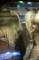 Chloe Ferry and Bethan Kershaw getting rather intimate at the back of a taxi on a night out in Newcastle