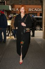 Christina Hendricks Arriving at the NBC Studios in NYC