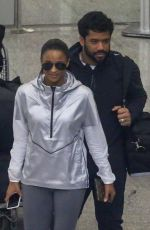 Ciara and Russell Wilson land safely in Rio ahead of some good times in Rio de Janeiro, BRAZIL
