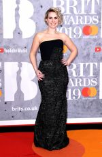 Claire Richards At The BRIT Awards 2019 held at The O2 Arena in London