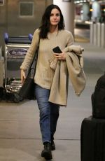 Courteney Cox At LAX Airport in Los Angeles