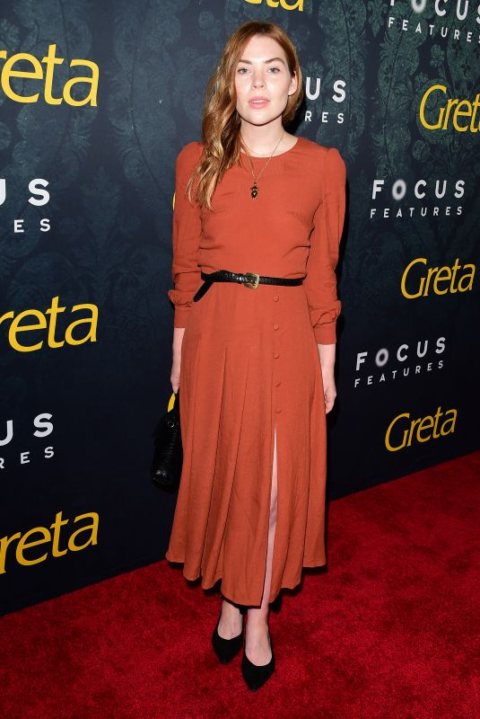 "Courtney Halverson At Premiere Of Focus Features ""Greta"" in Hollywood"