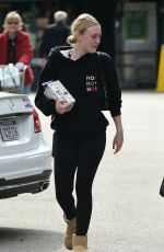 Dakota Fanning At Whole Foods in LA