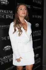 Dani Dyer Arriving for the Lornaluxe In The Style Launch Party at Marylebone Hotel in London
