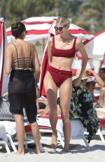 Devon Windsor In Bikini On Miami Beach