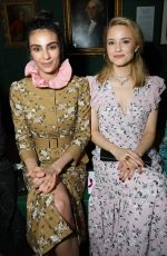 Dianna Agron At Front row at the Erdem Autumn/Winter 2019 show during London Fashion Week