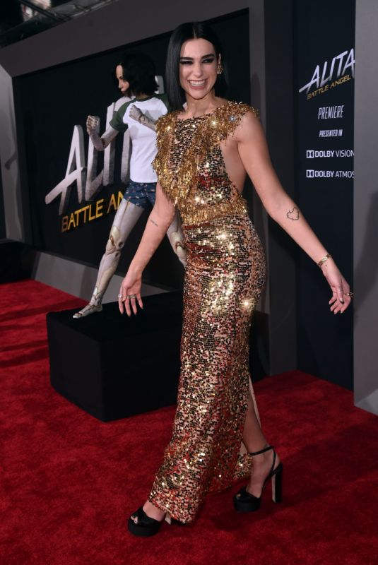 "Dua Lipa At ""Alita: Battle Angel"" premiere in Los Angeles"