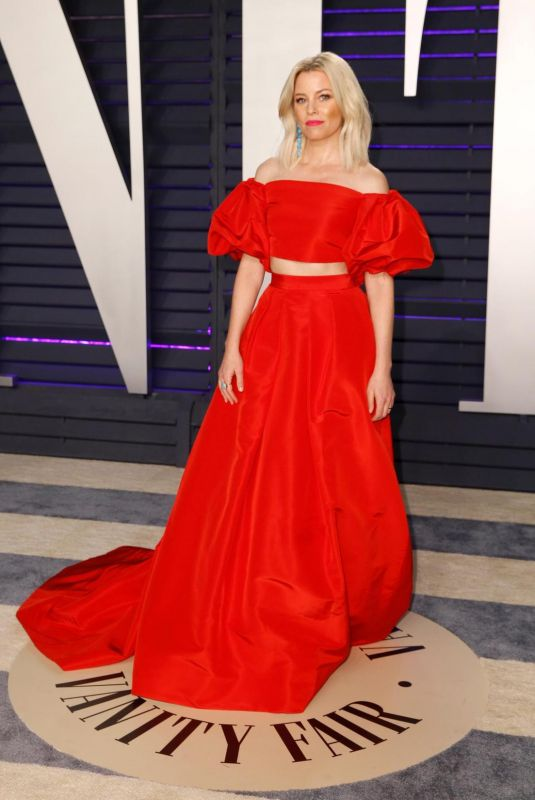 Elizabeth Banks At 2019 Vanity Fair Oscar Party hosted by Radhika Jones at Wallis Annenberg Center for the Performing Arts in Beverly Hills